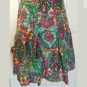 LILLY PULITZER Skirt Floral Paisley Turquoise Pink